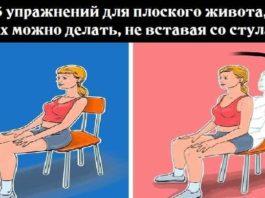5 упражнений для плоского живота, их можно делать, не вставая со стула