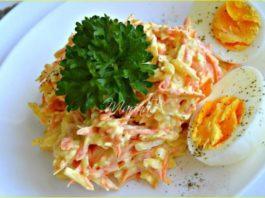 Французский салат с морковью и сыром — готовьте побольше